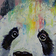 Panda Rainbow Poster by Michael Creese