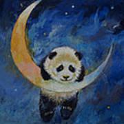 Panda Stars Poster by Michael Creese
