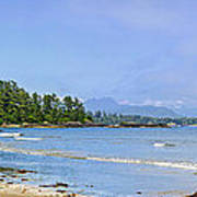 Panorama Of Pacific Coast On Vancouver Island Poster by Elena Elisseeva