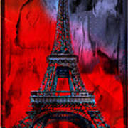 Paris Poster by Christine Mayfield