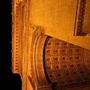 Paris France - Arc De Triomphe - 01132 Poster by DC Photographer