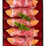 Parma Ham And Melon Poster by Jane Rix