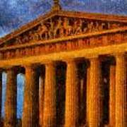 Parthenon On A Stormy Day Poster by Dan Sproul