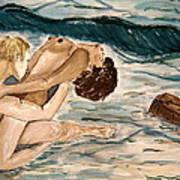 Passion Of Love. Poster by Shlomo Zangilevitch