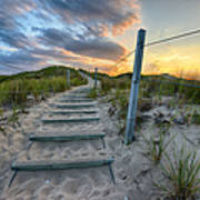 Path Over The Dunes Poster by Sebastian Musial
