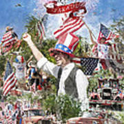 Pawleys Island 4th Of July Poster by Alan Sherlock