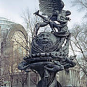 Peace Sculpture In New York Poster by Daniel Hagerman