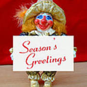 Peaches - Season's Greetings Poster by David Wiles