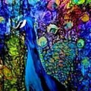 Peacock II Poster by Karen Walker