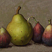Pear And Figs Poster by Clinton Hobart