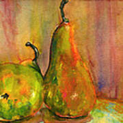 Pears Still Life Art  Poster by Blenda Studio