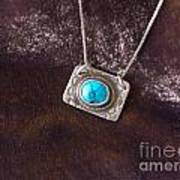 Pendant With Turquoise Poster by Patricia  Tierney
