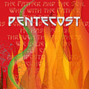 Pentecost Fires Poster by Chuck Mountain