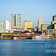 Peoria Skyline And Downtown City Buildings Poster by Paul Velgos