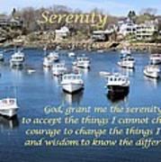 Perkins Cove Serenity Poster by Patricia Urato