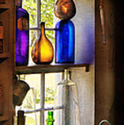 Pharmacy - Colorful Glassware  Poster by Mike Savad