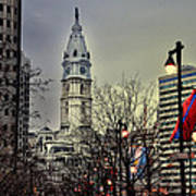 Philadelphia's Iconic City Hall Poster by Bill Cannon
