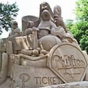 Phillies Sandsculpture Poster by Barbara McDevitt