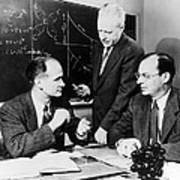 Physicists Brattain, Bardeen And Poster by Science Photo Library