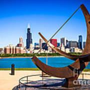 Picture Of Chicago Adler Planetarium Sundial Poster by Paul Velgos
