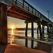 Pier Sunrise Poster by Michael Thomas