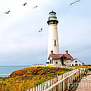 Pigeon Point Lighthouse Poster by Artist and Photographer Laura Wrede