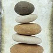 Pile Of Pebbles Poster by Bernard Jaubert