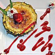 Pineapple Creme Brulee Maui Style Poster by Karon Melillo DeVega