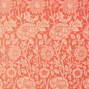 Pink And Rose Wallpaper Design Poster by William Morris