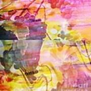 Pink Vineyard Plumps Poster by PainterArtist FIN
