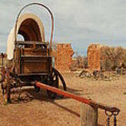 Pionner Wagon Poster by Jeff Swan