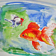 Pisces Poster by Shakhenabat Kasana