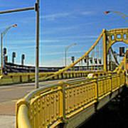 Pittsburgh - Roberto Clemente Bridge Poster by Frank Romeo