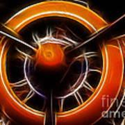 Plane - All Orange Poster by Paul Ward
