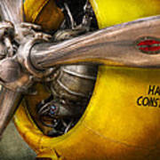 Plane - Pilot - Prop - Twin Wasp Poster by Mike Savad