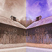 Pleasant View Country Barns Poster by Betsy C Knapp