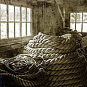 Plymouth Cordage Company Ropewalk Poster by Cindi Ressler