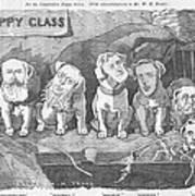 Political Puppy Class Poster by Konni Jensen