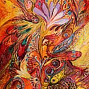 Polyptich Part IIi - Fire Poster by Elena Kotliarker