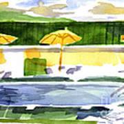 Poolside Poster by Kip DeVore