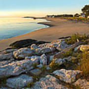 Popham Beach At Dawn Poster by Jim Block