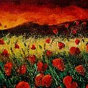 Poppies 68 Poster by Pol Ledent