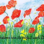 Poppies Poster by Catherine Saldana