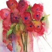 Poppies Poster by Sherry Harradence