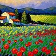 Poppy Field - Provence Poster by John  Nolan