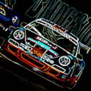 Porsche 911 Racing Poster by Sebastian Musial