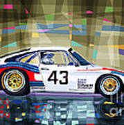 Porsche 935 Coupe Moby Dick Poster by Yuriy  Shevchuk