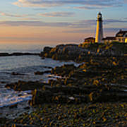 Portland Head Lighthouse At Dawn Poster by Diane Diederich
