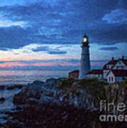 Portland Head Lighthouse Poster by Diane Diederich