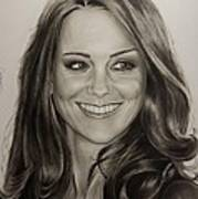 Portrait Kate Middleton Poster by Natalya Aliyeva